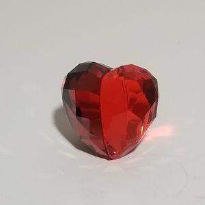 Red Swarovski Siam love heart figurine